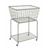 Benzara Spectacular Metal Roll Storage Basket