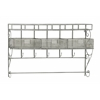 Benzara Sparkling Metal Wall Shelf With Hook
