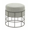 Benzara Comfortable Metal Outdoor Fabric Stool