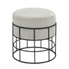 Benzara Sassy Metal Outdoor Fabric Stool