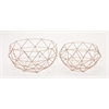 Benzara Sturdy Metal Set Of Two Baskets
