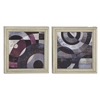 Benzara Classy Wood Wall Decorative 2 Assorted