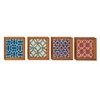 Benzara Exclusive Wood Wall Decorative 4 Assorted