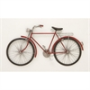 Fashionable Metal Red Bike Wall Decor, Red