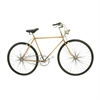 Chic Metal Bicycle Wall Decor, Gold