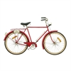 Captivating Metal Bicycle Wall Decor, Red