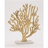 Arty Metal Marble Gold Tree, Gold