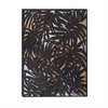 Well-Designed Metal Wood Wall Decor, Black, White, Copper