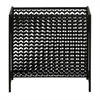 Alluring Metal Magazine Rack, Black