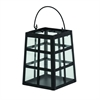 Stunning Metal Glass Lantern, Black