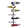 Benzara Modern Hangable Wine Rack With 7 Horizontal Slots