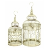 Benzara Metal Bird Cage S/2 Birds Too Like This Home Stay