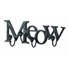 Benzara Cute Cat Wall Hook With Meow Message