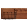 Benzara Fantastic Wood Metal Wall Storage Rack