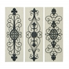 "Benzara Wood Metal Decor 3 Assorted 36""H, 12""W Wall Decor"