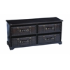Benzara Wood Leather Cabinet With Rectangle Top