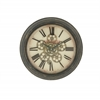 Benzara Stylish Vintage Themed Metal Wall Clock