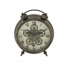 Benzara Marvelous Metal Table Clock