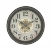 Benzara Superbly Styled Metal Wall Clock