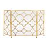 Benzara The Yellow Metal Fireplace Screen