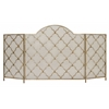 "Benzara Sturdy Metal Fireplace Screen 63""W, 34""H"