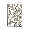 Classy Metal Wood Wall Decor, Silver, Brown