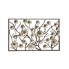 Exclusive Metal Wood Wall Decor, Silver, Brown