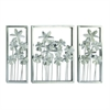 "Metal Wall Decor S/3 40""W, 27""H, Silver"