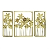 "Metal Wall Decor S/3 40""W, 27""H, Gold"