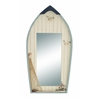 Benzara Seaside Nautical Row Boat Mirror Décor With Fishing Net
