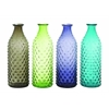 Benzara Set Of 4 Bubble-Surfaced Glass Vase