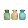 Benzara The Sweet Glass Vase 3 Assorted