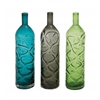 Benzara Long And Slender Glass Vase 3 Assorted