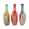 Sparkling Glass Bottle 3 Assorted, Red, Blue