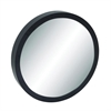 "Wood Wall Mirror 33""D, Black, Reflective"
