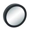 "Wood Wall Mirror 23""D, Black, Reflective"