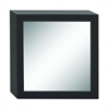 "Wood Wall Mirror 23""W, 23""H, Black, Reflective"
