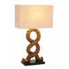 "Designers Lamps - Wood Metal Rope Pier Lamp 28""H"