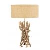 Benzara The Cool Driftwood Metal Table Lamp