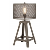 Benzara Superb Unique Styled Metal Table Lamp