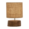 Benzara Amazing Wood Mahogany Log Lamp