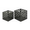 Benzara Attractive Set Of Two Metal Outdoor Planter