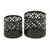 Benzara Beautiful Set Of Two Metal Outdoor Planter
