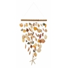 "Benzara Wonderful Rattan Shell Wind Chime 12""W, 30""H"