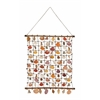 "Adorable Rattan Shell Wall Hang 24""W, 46""H"