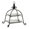Benzara Beautiful  Metal Glass 2 Tier Tray