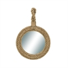 Designer Wood Rope Wall Mirror, Beige