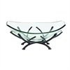 "Metal Glass Bowl 18""W, 8""H, Black"