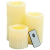 Benzara Modern Styled Attractive Led Wax Candle Remote Set/3