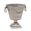 Stylish Aluminum Wine Cooler, Antique silver